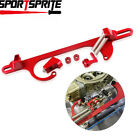 4150 4160 Aluminum Series Red Billet Throttle Cable Carb Bracket