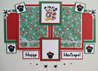 Premade Disney Scrapbook Page Mat Set Mickey Mouse  Minnie Christmas Holidays