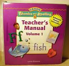 Saxon Phonics and Spelling Teacher Manuals Vol 1 and Vol 2
