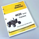 PARTS MANUAL FOR JOHN DEERE 4020 4000 TRACTOR CATALOG ASSEMBLY Serial 201,000 up