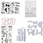 Transparent Silicone Clear Rubber Stamp Pine leaves Dies Diary Scrapbooking DIY
