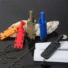 Stainless Steel Necklace Straight knife Camping Fishing Kife  Letter Opener YO