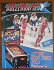 Original Williams ROLLERGAMES Pinball Flyer - SHIP 4 FREE
