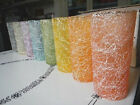Mid-Century Color Craft Plastic Coated Glass Tumblers Drizzle String MINT in BOX