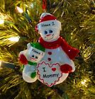 Single Parent Mom With 1 Child I Love Mommy Personalized Christmas Ornament