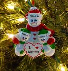 Single Parent Mom With 2 Children I Love Mommy Personalized Christmas Ornament