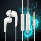 [1-5Packs]White 3.5mm In-Ear Headphone Earbud Headset w/ Mic For Samsung iPhonne