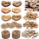 100pcs Rustic Wooden Love Heart Table Scatter Wood Crafts Wedding Party Decor