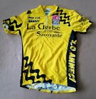 Vintage Mens France Cycling Jersey La Gerbe Size Medium M Color Yellow