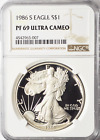 1986 S 1 American Proof Silver Eagle NGC PF 69 Ultra Cameo