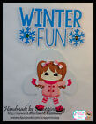 Winter Fun snow angel Premade Paper piecing set  by scrappintoday