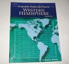 A Beka 8th Grade Geography Studies  Projects Western Hemisphere Teacher Key