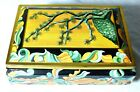 A SUPERB SWEETS BISCUITS TIN JAPANESE STYLE PINE TREE BONSAI CASKET TIN C1950S