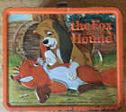 THE FOX AND THE HOUND Disney Metal Lunchbox Aladdin 1982 Embossed Lunch Box LK