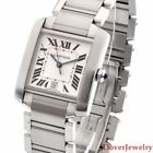 Cartier Tank Ref 2302 Stainless Steel Men's Automatic Watch 102.1 Grams NR