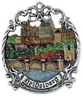 Heidelberg Germany City Skyline German Pewter Christmas Ornament Decoration