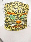halloween mask vintage 1950s cheesecloth gauze Cheetah tiger leopard cat