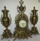 3 piece French mantel Clock 1900