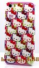 for iphone 5 5s cute hello kitty hot pink purple white face and bow +scren film
