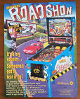 Original WILLIAMS  - ROAD SHOW Pinball Flyer, Personal Collection, Only Owner