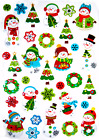 Gingerbread Snowman Christmas Card Crafts Puff Stickers Fast Usa Shipping 44