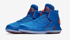 Men Air Jordan 32 Retro Russ Signal Blue Team Orange AA1253 400