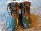 WOMENS KHOMBU THERMOLITE ALL TERRAIN SUEDE  RUBBER BOOTS SZ 8M