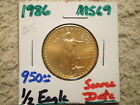 1986 1 2 Oz GOLD AMERICAN EAGLE GREAT BUY