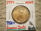1999 1 2 Oz GOLD AMERICAN EAGLE GREAT BUY