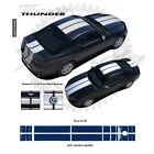 Ford Mustang w Camear Lip Spoiler 2013+ Rally Stripes Graphic Kit - Blue