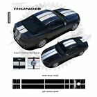 Ford Mustang w Camear Lip Spoiler 2013+ Rally Stripes Graphic Kit - Bright White