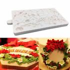 Chriatmas Flower Leaf Cake Border Silicone Mold  Sugarcraft Chocolate Mould Tool