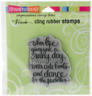 Stampendous Cling Stamp Cute Boots