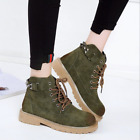 Stylish Womens Military Army Lace-up Short Martin Bootss Rivet Suede Flat Shoess