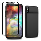 MFi 360Full Body Protective Shockproof Heavy Duty 6000mAh Battery Case iPhone X