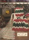 HOLIDAY CHRISTMAS AFGHANS PATTERNS TO CROCHET IN ONE PIECE RIPPLE REVERSIBLE