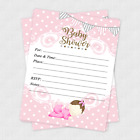 20 Girl Baby Shower Invitations Cards Invites Decorations Pink Gray