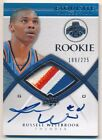 RUSSELL WESTBROOK 2008 09 UD EXQUISITE RC AUTOGRAPH 3 COLOR PATCH AUTO #189 225
