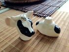Vintage Cow Stacker Salt  Pepper Shakers Excellent Condition