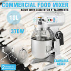 10 QT FOOD DOUGH MIXER BLENDER 0.5HP 10L BOWL CATERING KITCHEN STAINLESS STEEL