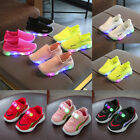 Kids Baby Boy Girl LED Luminous Soft Sport Shoes Breathable Sneakers Trainers US
