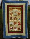 VINTAGE CHRISTMAS THROW 12 DAYS OF CHRISTMAS QUILT Excellent 51