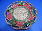 Fitz & Floyd Christmas Lodge Canape Plate Fall Holly Leaves Berries 10 5/8