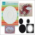 Scalloped Oval Frame dies Marianne Metal Cutting Die Set CR1241 4pc shapes