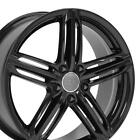 OEW Fits 18x8 Wheels Audi Volkswagen Audi RS6 Black Rims 35MM