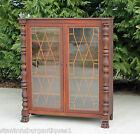 Paw Feet Bookcase Display Cabinet c1890