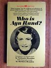 WHO IS AYN RAND Nathaniel Barbara Branden Photo Cover LK WOW