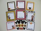 Premade Disney Scrapbook Page Journaling Mat Set Mickey Mouse Minnie Mouse 2
