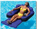 Swimline Fabric Covered Swimming Pool Lake Pond Inflatable Floating Chair Lounge