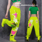 Women's JAZZ Street Dance Pants Sports Practice DS Performance Cargo Trousers US